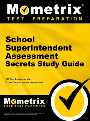 cover image of School Superintendent Assessment Secrets Study Guide