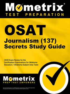 cover image of OSAT Journalism (137) Secrets Study Guide
