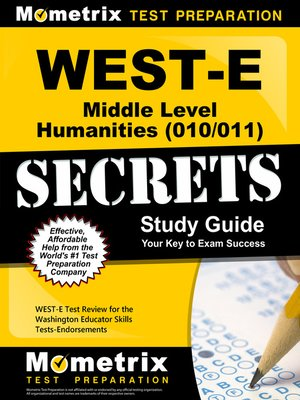 cover image of WEST-E Middle Level Humanities (010/011) Secrets Study Guide