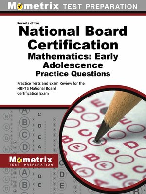 cover image of National Board Certification Mathematics: Early Adolescence Practice Questions