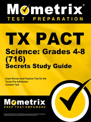 cover image of TX PACT Science: Grades 4-8 (716) Secrets Study Guide