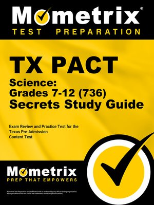 cover image of TX PACT Science: Grades 7-12 (736) Secrets Study Guide