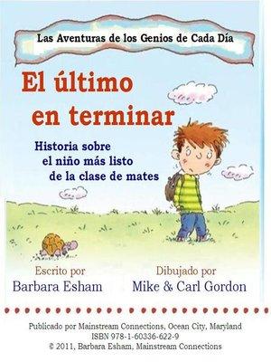 cover image of El ultimo en terminar