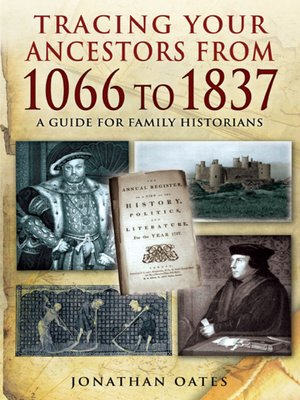 cover image of Tracing Your Ancestors from 1066 to 1837