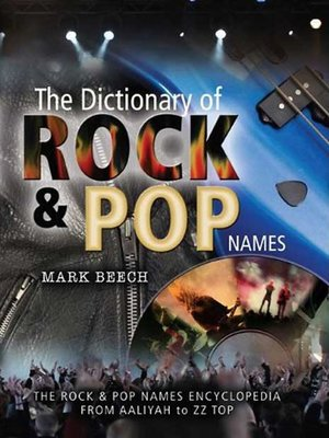 cover image of The Dictionary of Rock and Pop Names