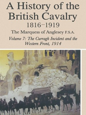 cover image of A History of British Cavalry