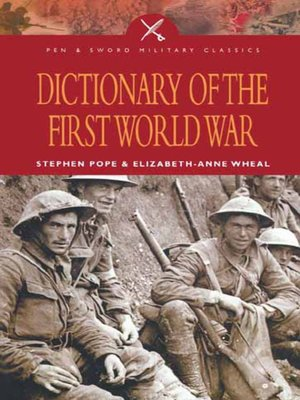 cover image of Dictionary of the First World War