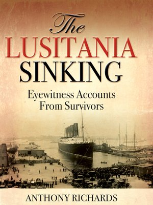 cover image of The Lusitania Sinking