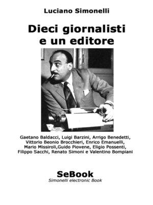 cover image of Dieci giornalisti e un editore