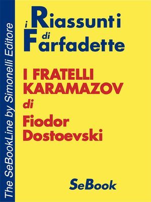 cover image of I Fratelli Karamazov di Fiodor Dostoevski - RIASSUNTO