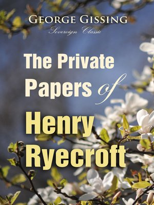 cover image of The Private Papers of Henry Ryecroft
