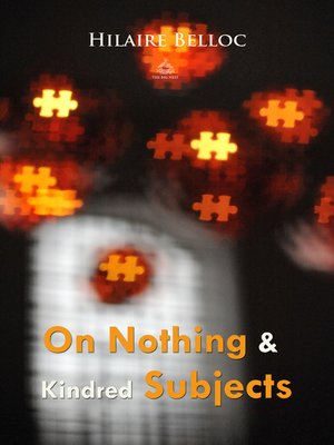 cover image of On Nothing & Kindred Subjects