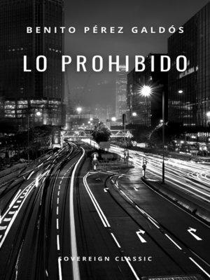 cover image of Lo prohibido