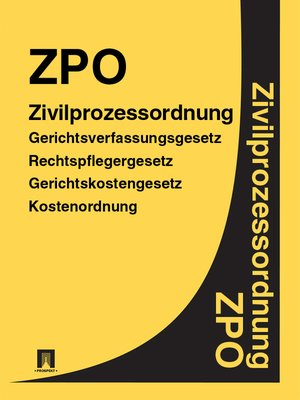cover image of Zivilprozessordnung