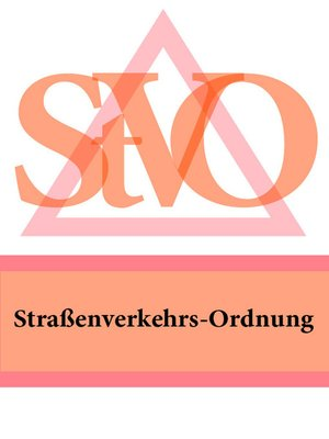 cover image of Straßenverkehrs-Ordnung
