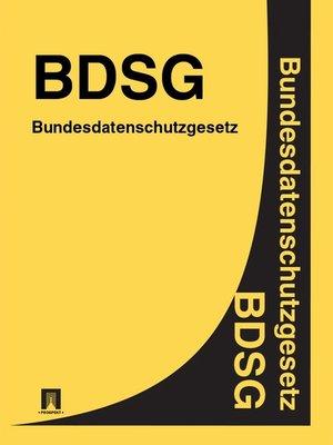 cover image of Bundesdatenschutzgesetz