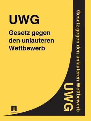 cover image of Gesetz gegen den unlauteren Wettbewerb