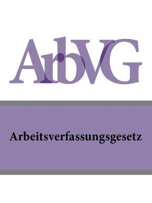 cover image of Arbeitsverfassungsgesetz