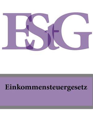 cover image of Einkommensteuergesetz