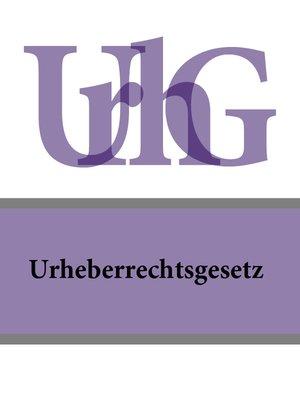 cover image of Urheberrechtsgesetz