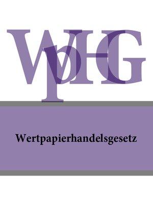 cover image of Wertpapierhandelsgesetz