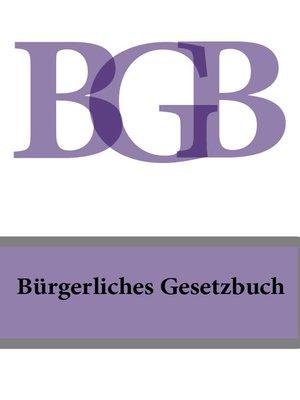 cover image of Bürgerliches Gesetzbuch