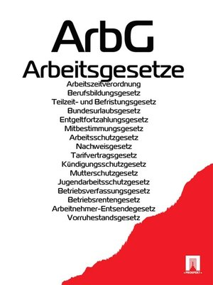 cover image of Arbeitsgesetze