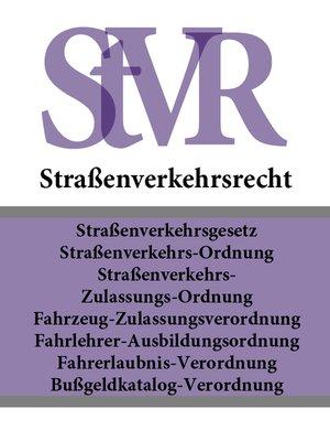 cover image of Straßenverkehrsrecht
