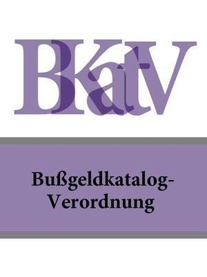 cover image of Bußgeldkatalog-Verordnung