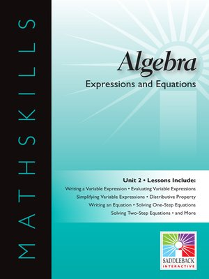 cover image of Algebra 1: Expressions and Equations