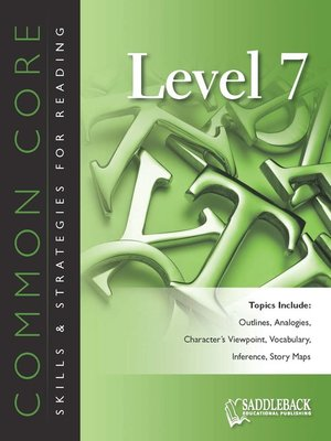 cover image of Common Core Skills & Strategies for Reading Level 7
