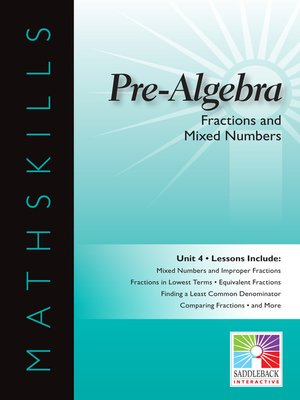 cover image of Pre-Algebra: Fractions and Mixed Numbers
