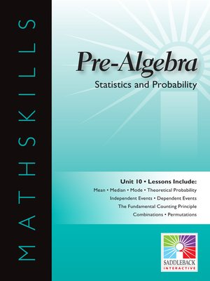 cover image of Pre-Algebra: Statistics and Probability