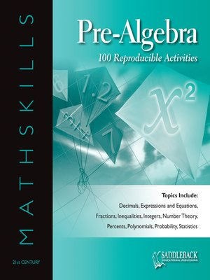 cover image of Mathskills Pre-Algebra