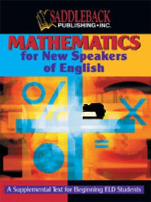cover image of Mathematics for New Speakers of English