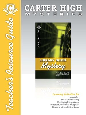 cover image of Library Book Mystery Teacher's Resource Guide