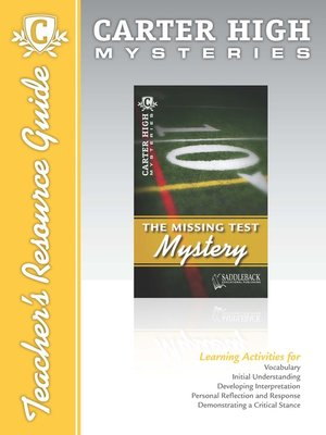 cover image of The Missing Test Mystery Teacher's Resource Guide