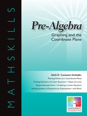 cover image of Pre-Algebra: Graphing and the Coordinate Plane
