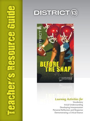 cover image of Before the Snap Teacher's Resource Guide