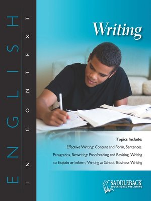 cover image of Writing
