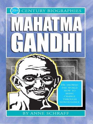 cover image of Mahatma Gandhi