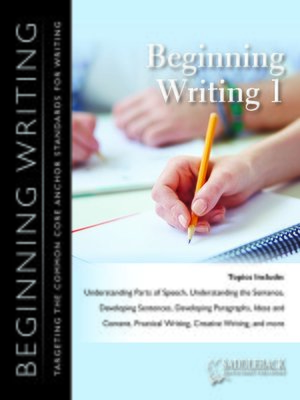 cover image of Beginning Writing 1 Workbook