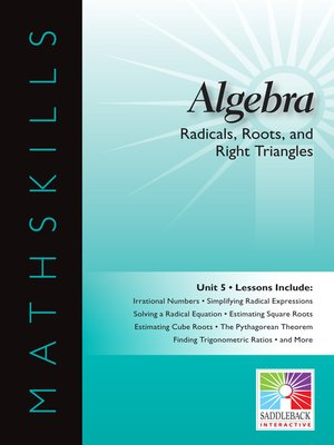 cover image of Algebra 1: Radicals, Roots, and Right Triangles