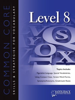 cover image of Common Core Skills and Strategies for Reading Level 8