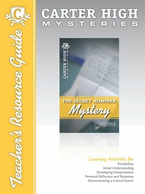 cover image of The Secret Admirer Mystery Teacher's Resource Guide