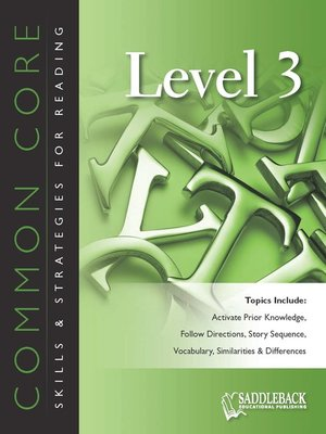 cover image of Common Core Skills & Strategies for Reading Level 3