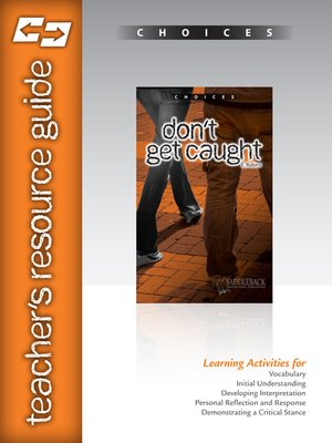 cover image of Don't Get Caught Teacher Resource Guide