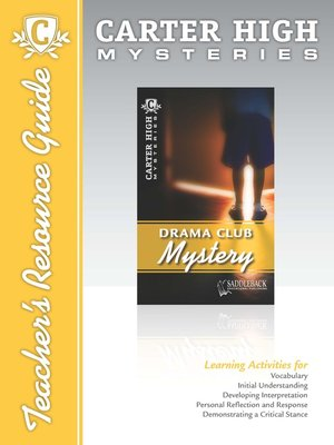 cover image of Drama Club Mystery Teacher's Resource Guide