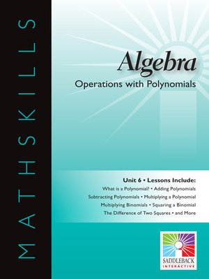 cover image of Algebra 1: Operations with Polynomials