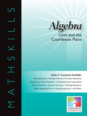 cover image of Algebra 1: Lines and the Coordinate Plane